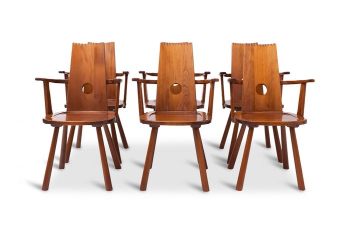 Wooden Dutch Dining Chairs - 1960s
