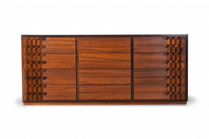 Walnut Chest Of Drawers, Luciano Frigerio - 1970s