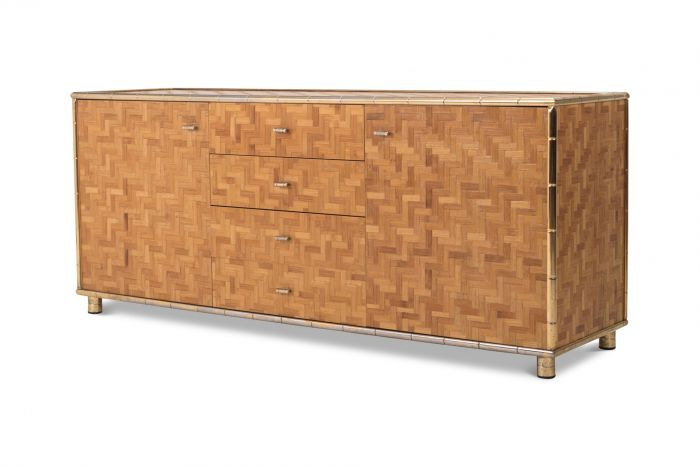 Bamboo Sideboard In Hollywood Regency Style - 1970s
