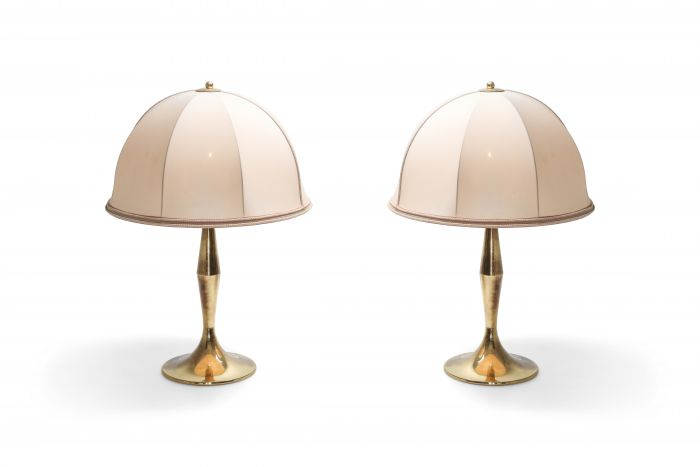 Brass Pair of Lamps in the Style of Gabriela Crespi - 1970's