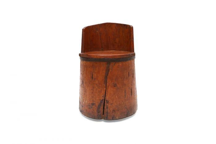 Rare Wooden Farmer's Chair - 18th Century