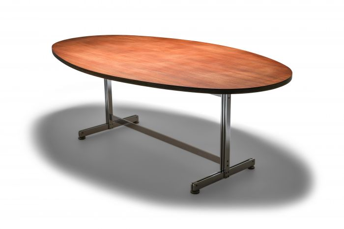 Jules Wabbes Oval Dining Table for Mobilier Universel - 1960s