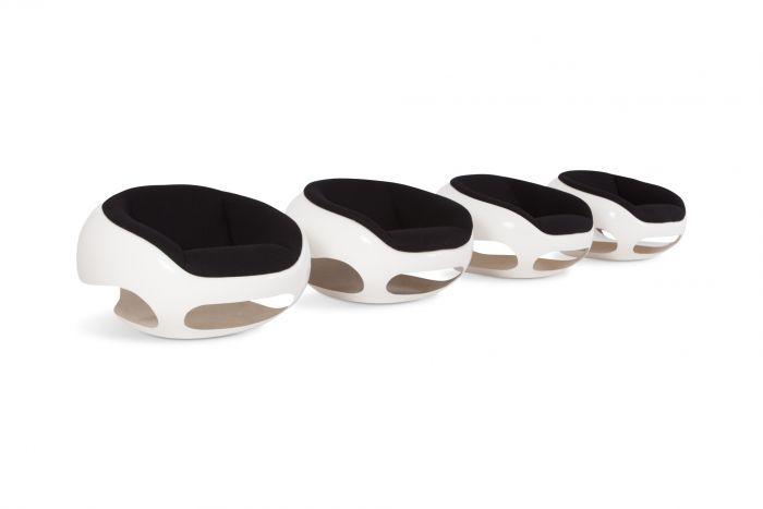 Mario Sabot Sculptural Fiberglass Lounge Chairs - 1960s
