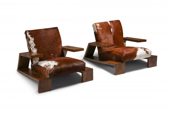 Jean Michel Frank 'Elephant' Chairs by Comte - 1930's