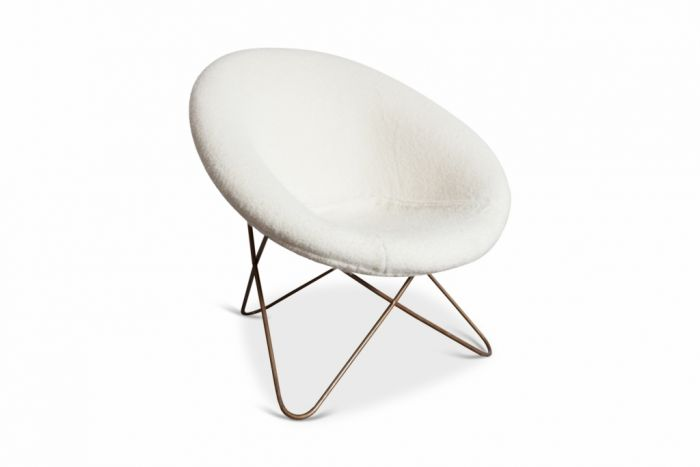 Jean Royère easy chair in Pierre Frey fabric - 1950s