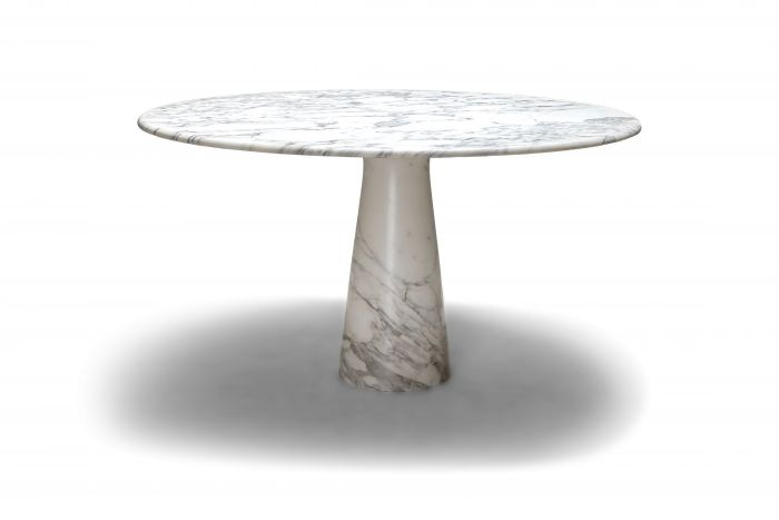 Calacatta marble dining table by Angelo Mangiarotti for Skipper - 1972