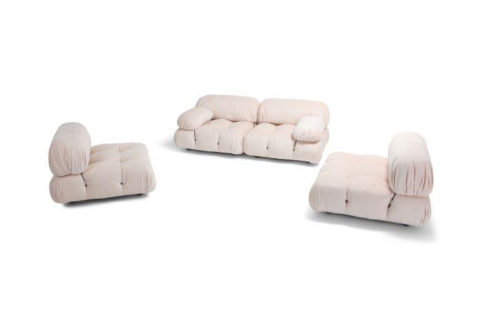 Mario Bellini Nude Rose Velvet 'Camaleonda' Sectional Sofa - 1970s