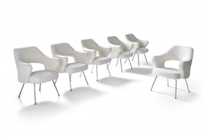 Gastone Rinaldi P16 armchairs in bouclé wool - 1950s