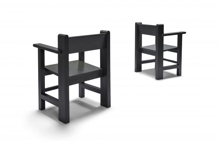 Dutch modernist pair of armchairs by Gerard Wijnen - 1950s