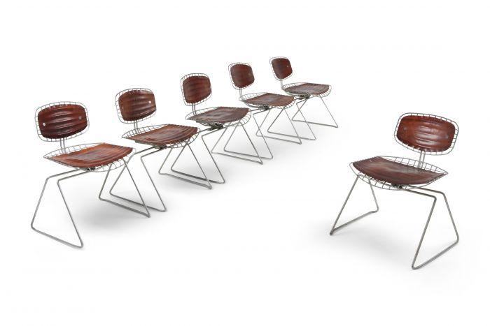 Centre Pompidou Beauburg Chairs Selected by Jean Prouvé - 1976