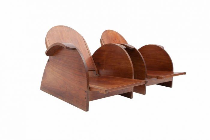 Italian Mahogany Lounge Chairs - 1950s