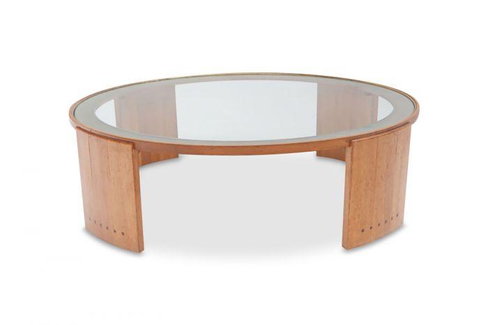 Round Pierre Chapo Coffee Table - 1960s