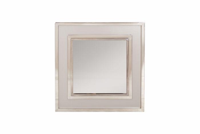 Large Chromed Mirror, Maison Jansen - 1980s