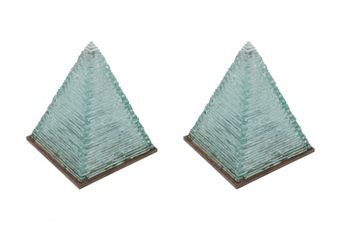 Pyramid Glass Lamps by Pia Manu - 1970s