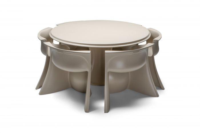 Spadolini post-modern 'Boccio' dining set for 1P - 1970's