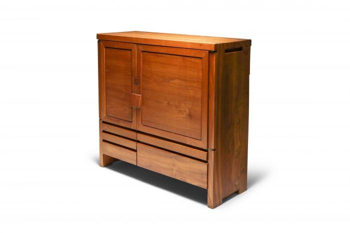 Pierre Chapo's Two-Door Five-Drawer Cabinet R18 - 1960's