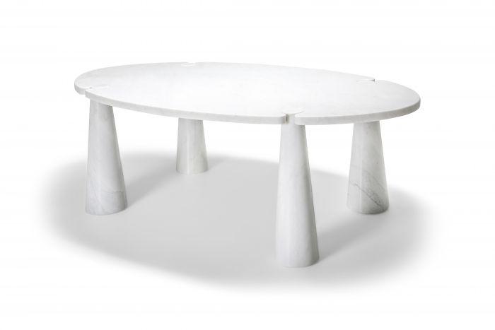 Carrara Marble Dining Table by Angelo Mangiarotti - 1970s
