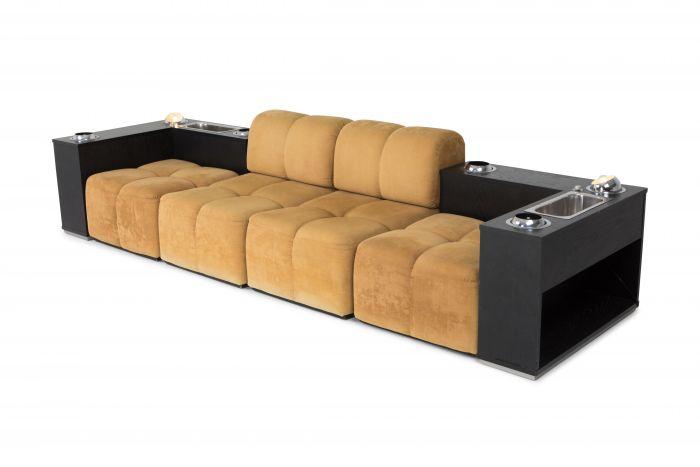 Postmodern Italian Tufted Sectional Sofa - 1970s