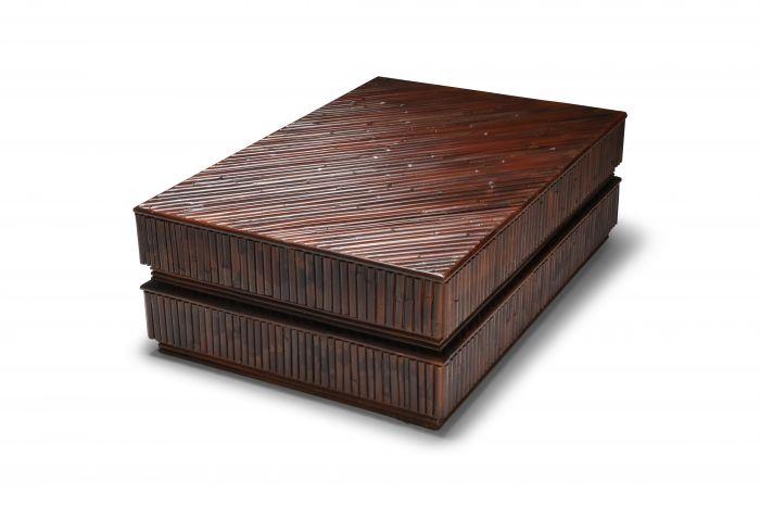 Vivai del Sud Bamboo Sliding Table - 1970's