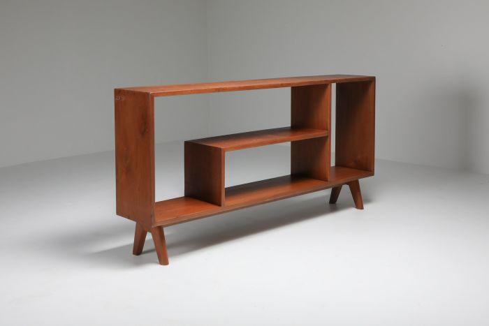 Pierre Jeanneret low etagere in teak - 1960's