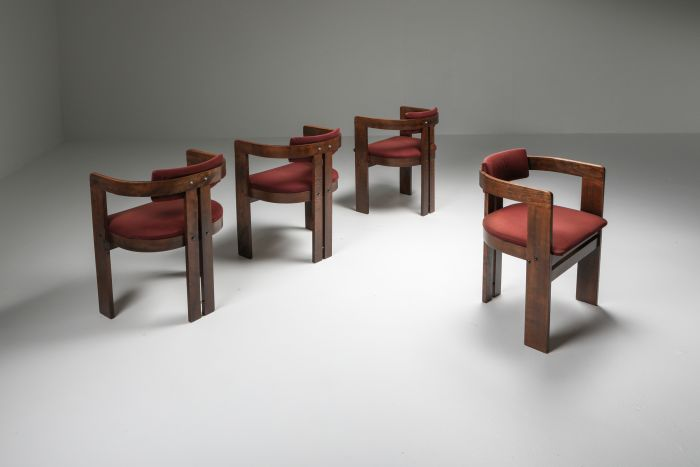 Pigreco Armchairs set of four with Bentwood Frames by Afra & Tobia Scarpa - 1960's