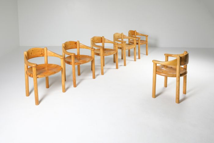 Pine Armchairs by Rainer Daumiller - 1970's