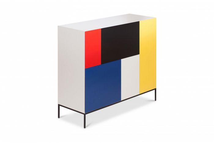 Mondriaan De Stijl Cabinet For Pastoe - 2000s