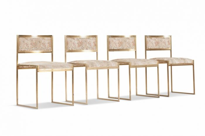 Brass Dining Chairs, Willy Rizzo - 1970s