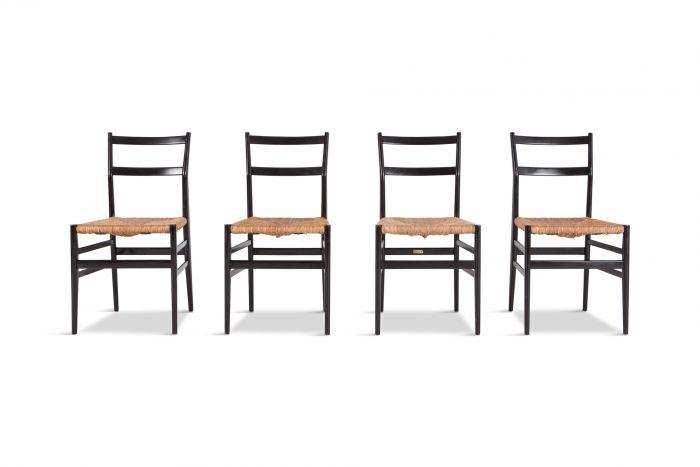 Gio Ponti Superleggera Dining Chairs by Cassina - 1950s