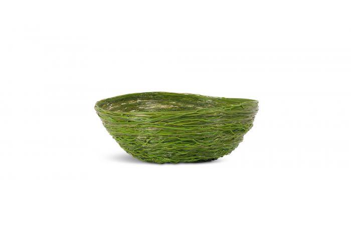 Gaetano Pesce Green Resin Spaghetti Bowl for Fish Design - 2009