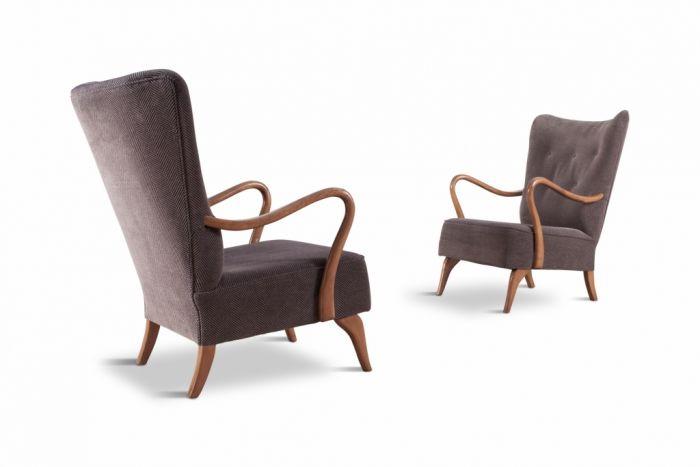 Scandinavian Organic Shaped Easy Chairs - 1950s