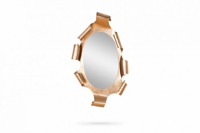 Gaudi Style Gilt Mirror - 1980s
