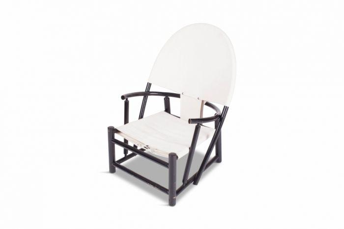 Black Beech Hoop Chair, Piero Palace & Werther Toffoloni - 1950s