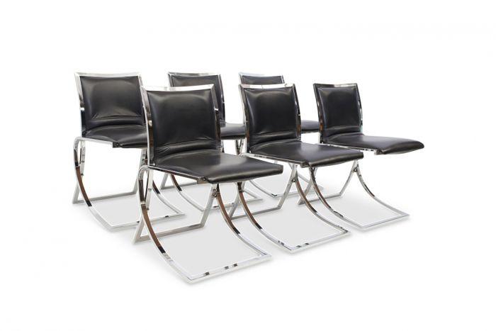 Dining Chairs, Maison Jansen - 1970s