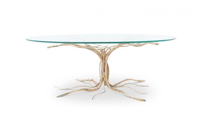 Bronze Coffee Table, Salvino Marsura - 1950s