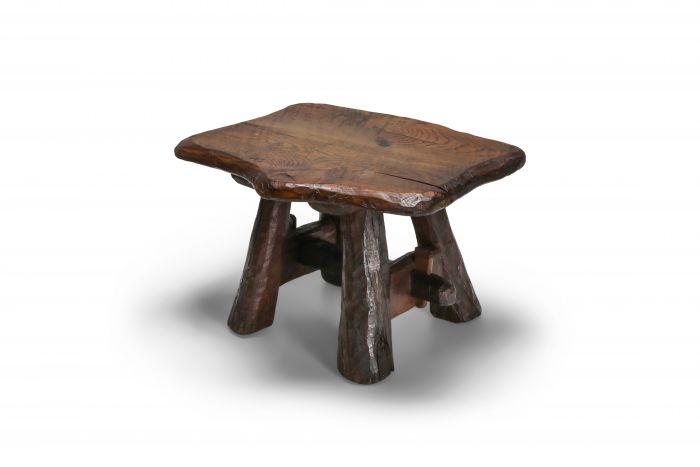 Wabi Sabi Rustic Side Table in Pine - 1950s