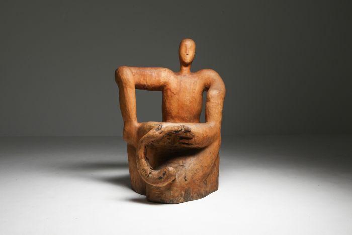 Sculptural Throne Chair - 1950's