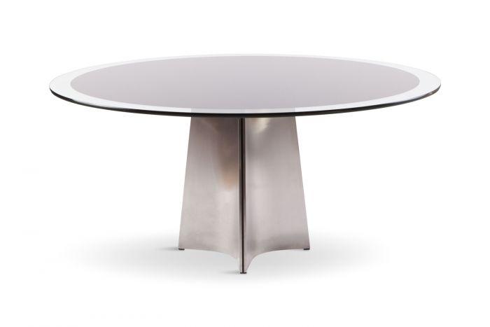 Round Dining Table For Maison Jansen, Luigi Saccardo - 1970s