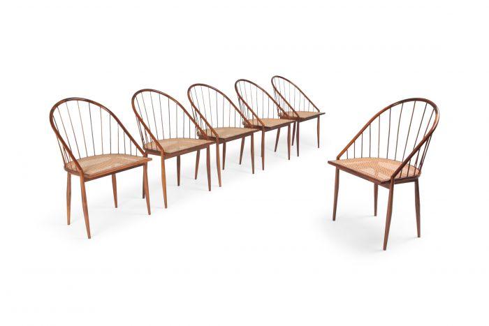 Joaquim Tenreiro Cadeiras Curva Dining Chairs - 1960s