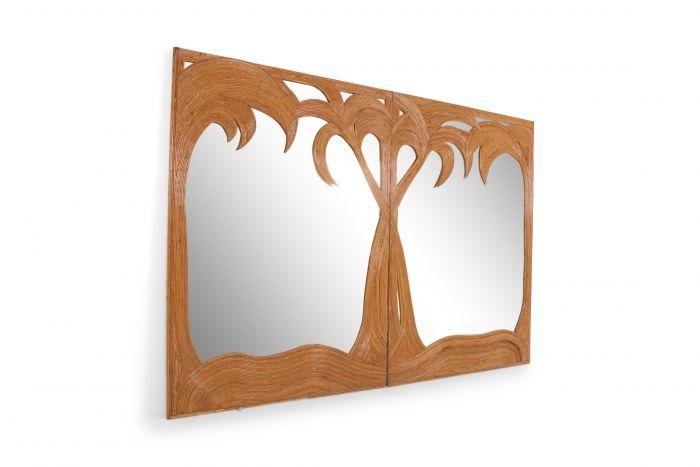 Vivai Del Sud Extra Large Palm Tree Mirror - 1970s