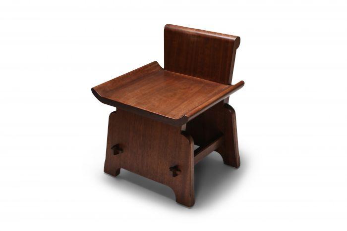 Mahogany Chair 'Atelier Français' - 1950s