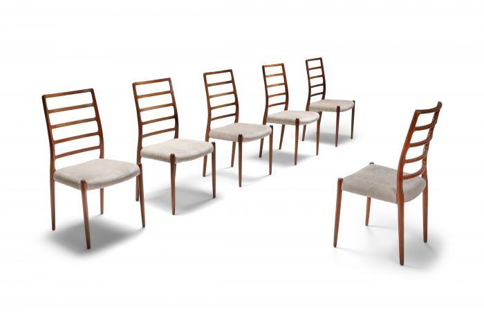 Niels Møller Model 82 Danish Rosewood Dining Chairs - 1970s