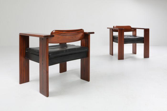 Artona armchairs by Afra & Tobia Scarpa for Maxalto - 1975