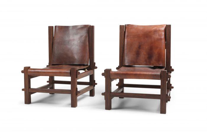 Brazilian Modern Lounge Chairs in Solid Jacaranda - 1960's