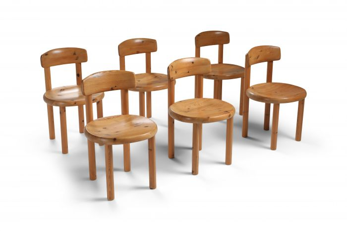 Rainer Daumiller set of six dining chairs in pine - 1970's