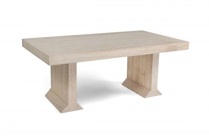 Carlo Scarpa style travertine table or writing desk - 1970's