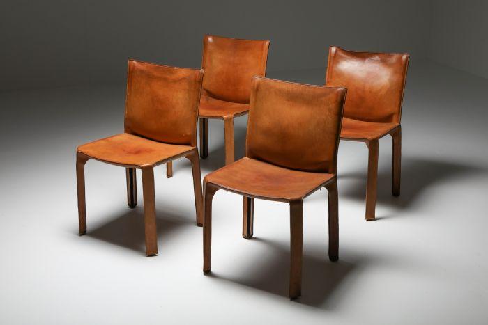 Cassina Cognac CAB Chairs - 1970's