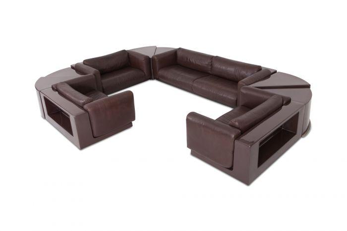 Cini Boeri Modular Sectional Sofa Set the Gradual Lounge for Gavina Knoll - 1970s