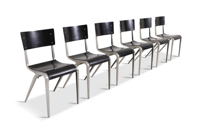 Industrial Mid-Century Modern Chairs by James Leonard for Esavian - 1948