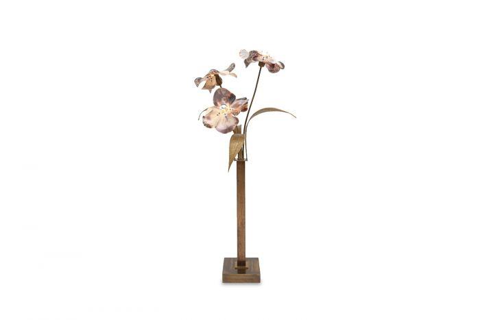 Bronze And Brass Floor Lamp, Willy Daro - 1970s